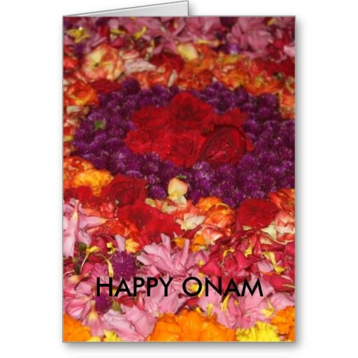 Customizable Happy Onam Wishes Greeting Card #onam #greetings #cards