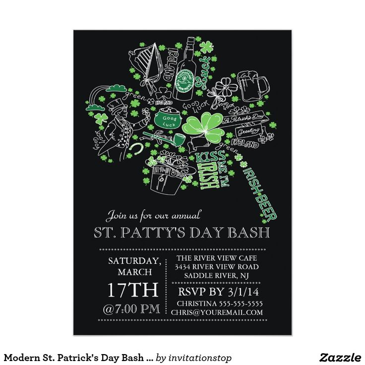 12 best St. Patrick\'s Day Party Invitations images on Pinterest ...