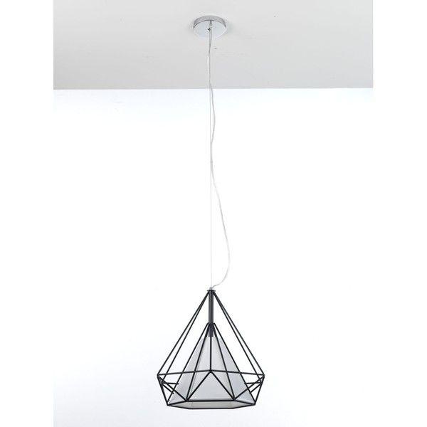 Černé závěsné svítidlo Tomasucci Diamond