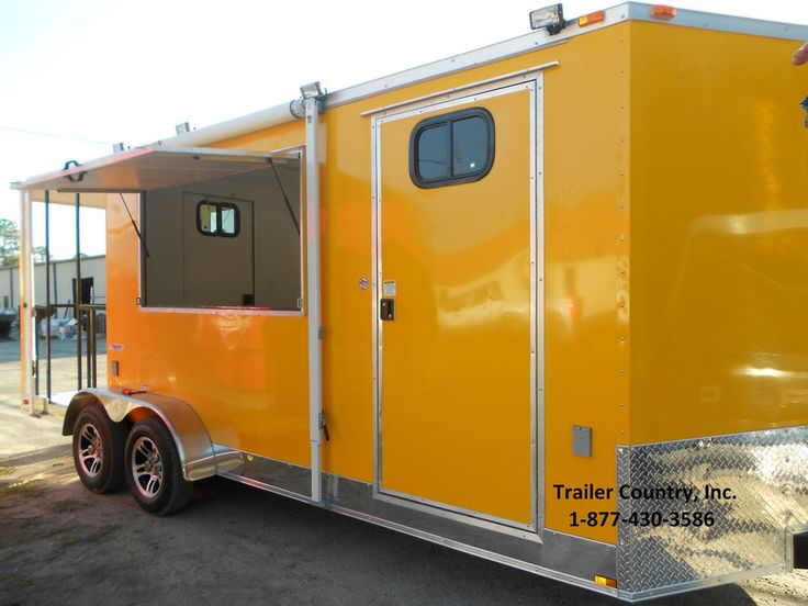 NEW 7x20 7 x 20 Custom Enclosed Concession Food Vending BBQ Trailer w/ Porch | Business & Industrial, Restaurant & Catering, Concession Trailers & Carts | eBay!