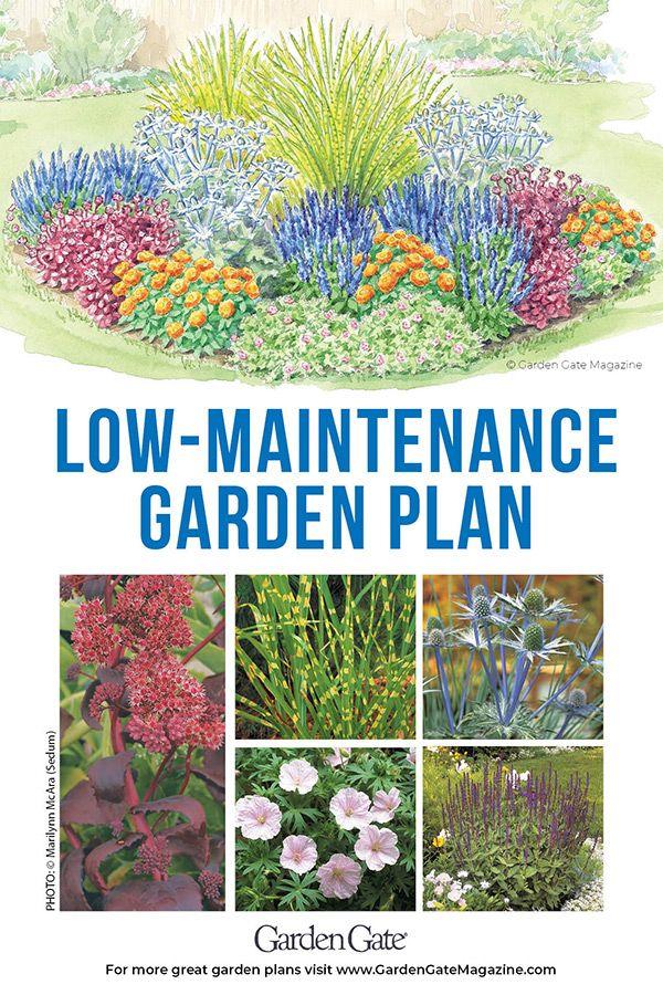 Low Maintenance Garden Bed Low Maintenance Garden Flower Garden Plans Low Maintenance Landscaping
