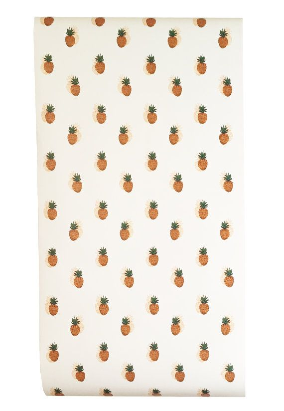 Removable Wallpaper// Pineapple Print // door KateZarembaCompany
