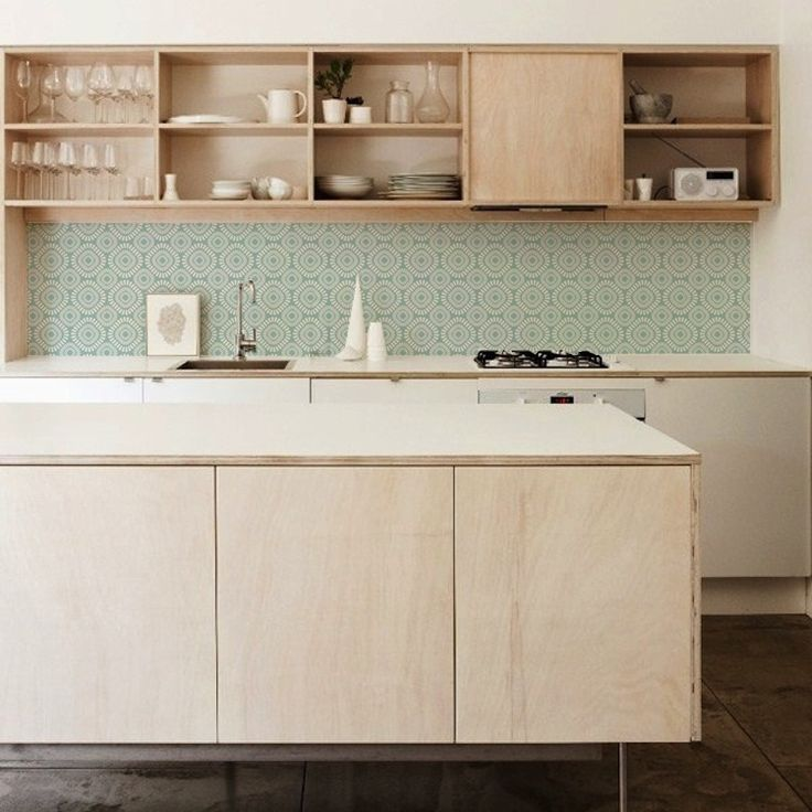 afwasbaar behang voor in de keuken RETRO GREEN 1406 125€ voo 60x300cm