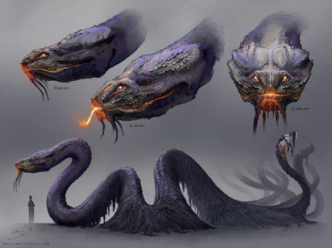 The Serpent Concept Art by Nigreda