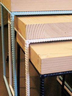 DIY Nesting rebar and wood tables