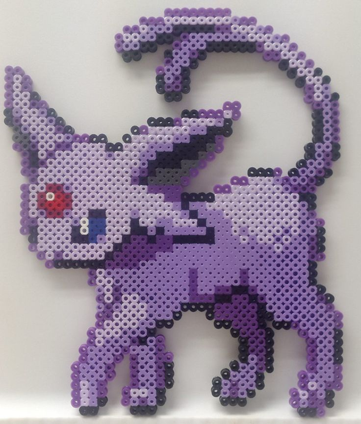 Pokemon - Perler Bead Espeon by heatbish on DeviantArt