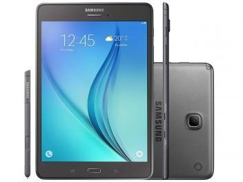 "Tablet Samsung Galaxy Tab A 8.0 16GB Tela 8"" 4G - Wi-Fi Android 5.0 Quad-Core Câm 5MP + Frontal 2MP"