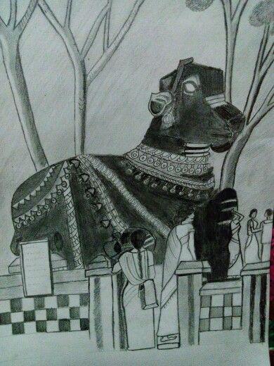 Sketch Nandi at karnataka