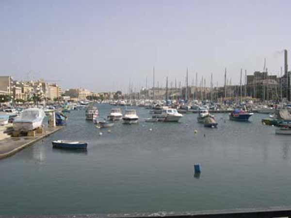 55 Msida Creek  Marina (Yacht Berths) on the left is Ta' Xbiex and on the right Pieta