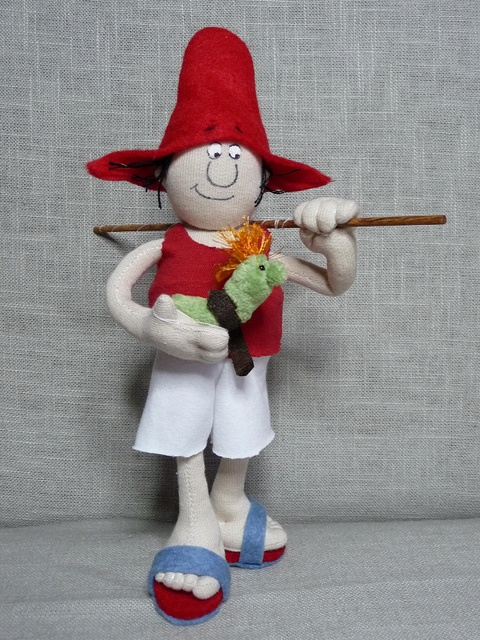 "He is a hungarian story character. Designer of the character is Ferenc  Sajdik animation director. The story was written István Csukás.8,5""tall doll sculpture."