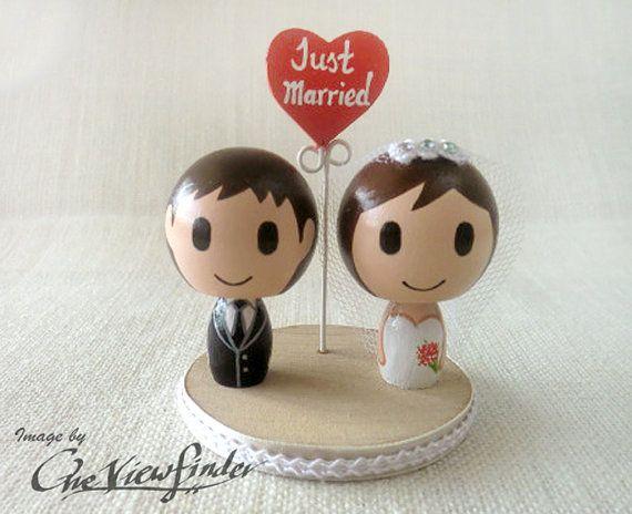 Personalizzare il Wedding Cake Topper con di Oneviewfinder su Etsy, $60.00