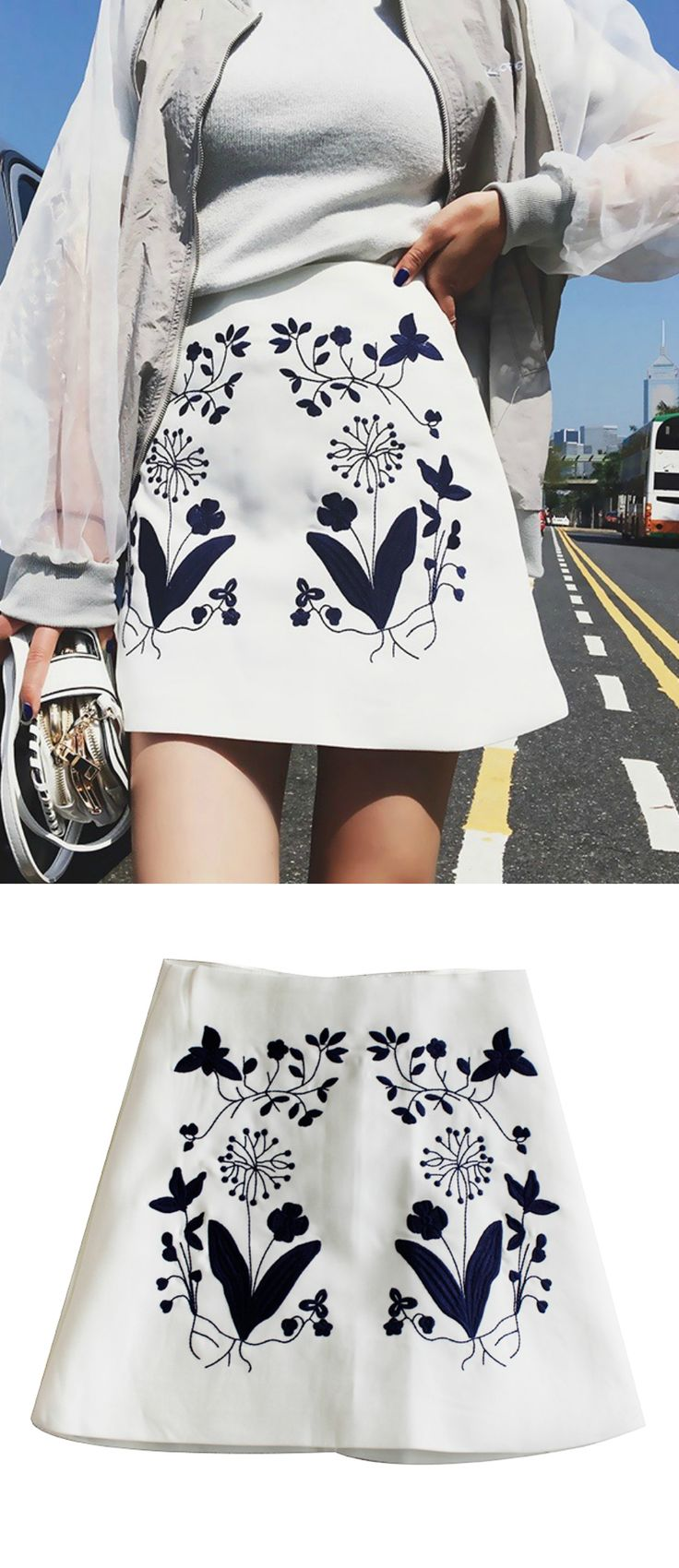 $33.00 - A Boho Chic Skirt as featured on Pasaboho. ❤️ This embroidery skirt exhibit unique design with beautiful embroidered floral patterns. :: boho fashion :: gypsy style :: hippie chic :: boho chic :: outfit ideas :: boho kimono :: free spirit :: fashion trend :: embroidered :: flowers :: floral :: lace :: summer :: fabulous :: love :: street style :: fashion style :: boho style :: bohemian :: modern vintage :: ethnic tribal :: rompers :: skirts
