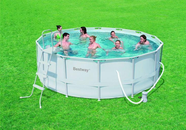 Piscina Desmontable Gris 427x122 Bestway #piscinas #desmontables