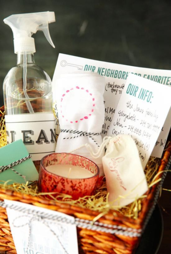New neighbor gift basket