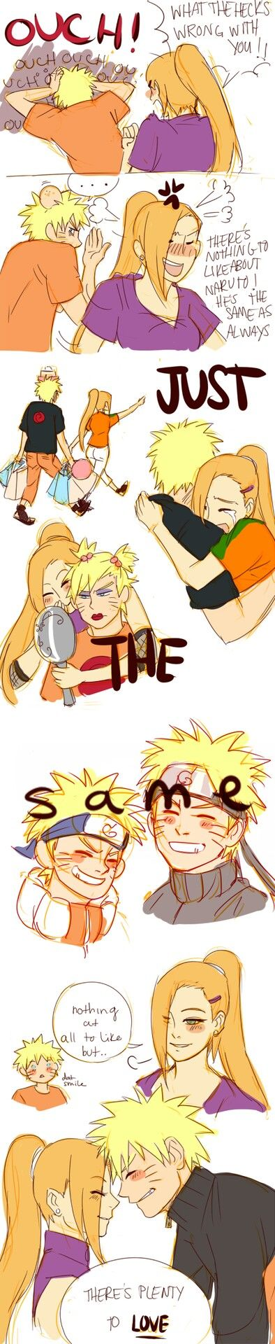 NO IT SHOULD BE HIM AND HINATA !!!.....but this is cute