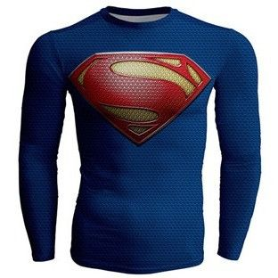 clearance !!!Brand Fitness Compression Superman shirt