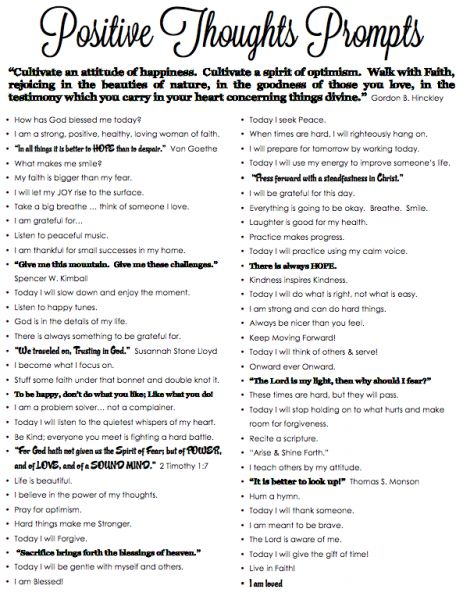 Positive Thoughts Prompts Coupon Counseling Misc Info