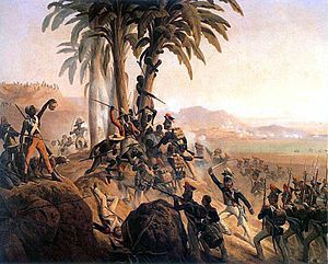 The Haitian Revolution (1791–1804) was a slave revolt in the French colony of Saint-Domingue, which culminated in the elimination of slavery...