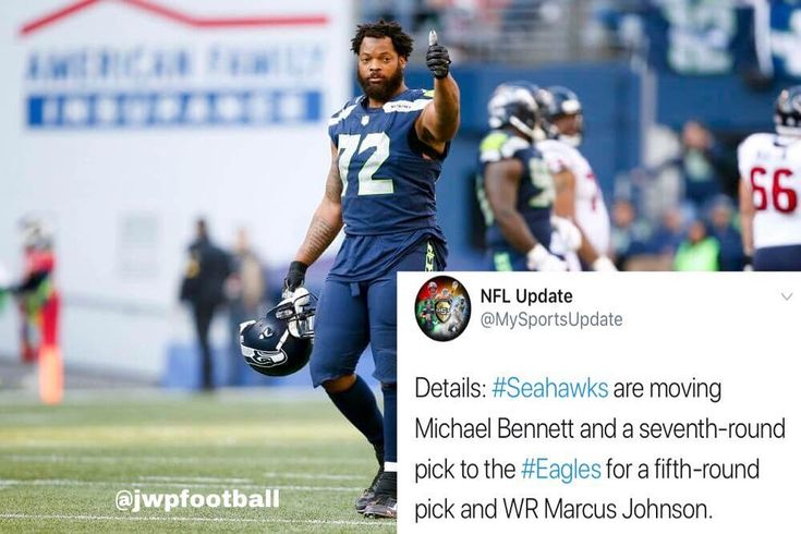 Michael Bennett will be an #Eagle. #Seahawks agree to send Bennett to Philly. #jwpfootball #NFL #flyeaglesfly