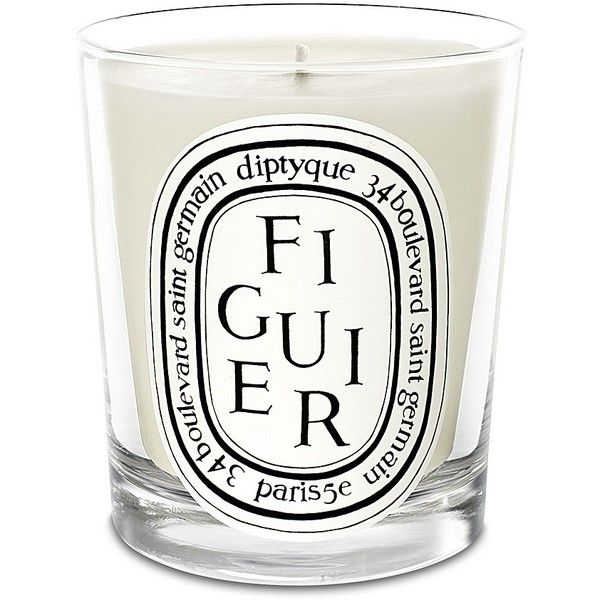 Diptyque Figuier Candle (66 CAD) ❤ liked on Polyvore featuring home, home decor, candles & candleholders, diptyque, mediterranean home decor, southern home decor, fragrance candles and figuier candle