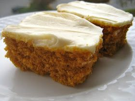 Heads in the books, still time to cook.: Paula Deen Pumpkin Bars