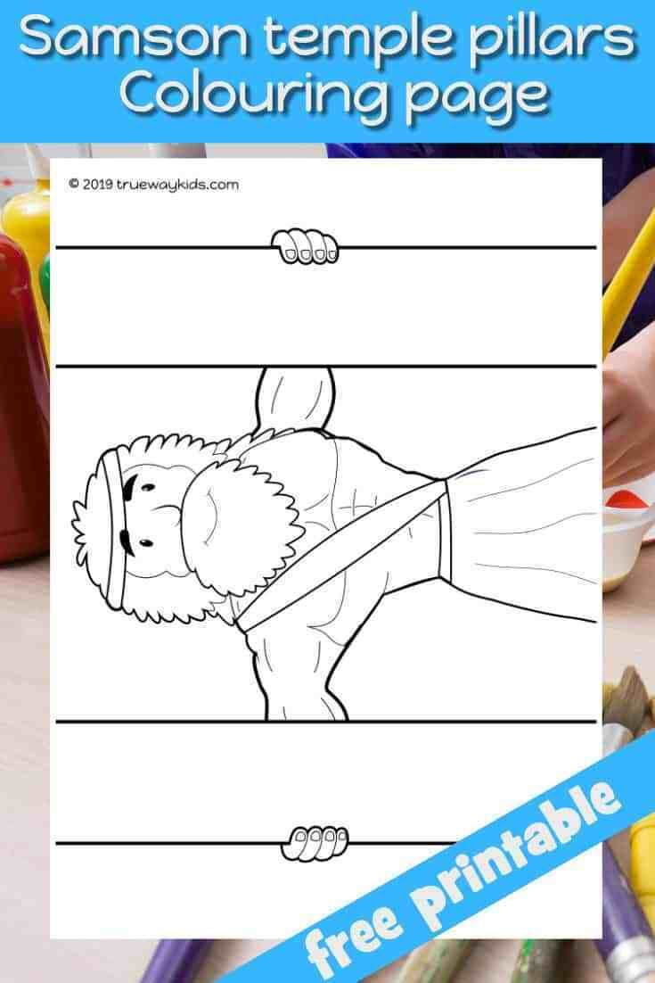 Pin On Samson Coloring Pages
