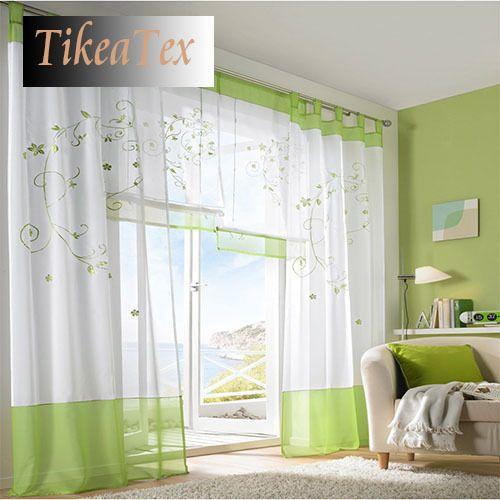 pc moda moderna borde branco cortina sheer cortinas para sala de estar quarto cortina da