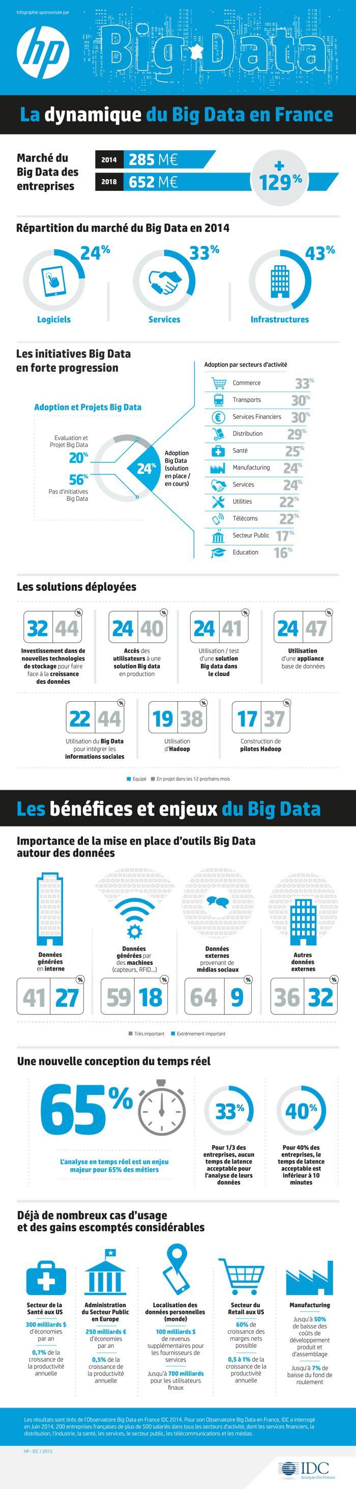 Une infographie pour comprendre la dynamique du Big Data en France