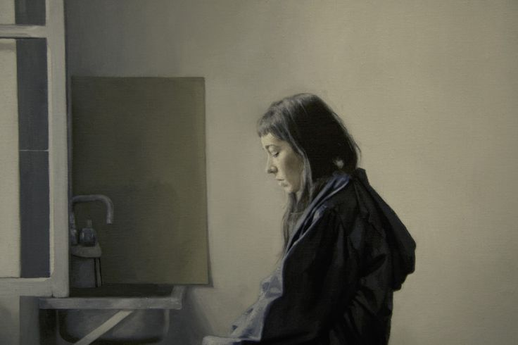 """Saatchi Online Artist: daniel gonzalez coves; Oil, 2011, Painting """"Girl reading a letter at an open window"""""""