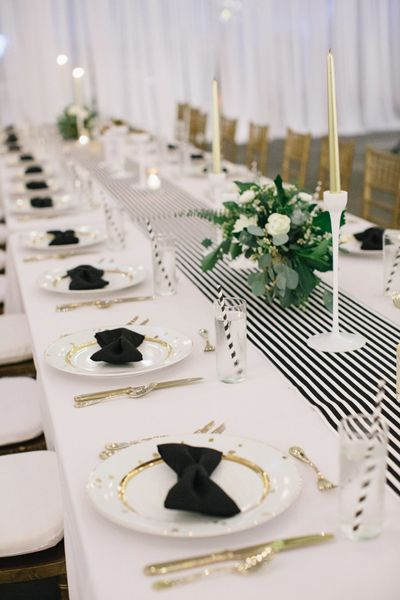 black bow napkins | Akil Bennett #wedding | Mono Wedding | Super Luxe | Gold Wedding | Wedding Ideas | Wedding Inspiration |