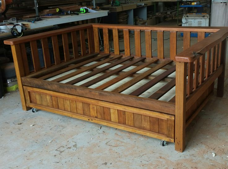 Daybed with trundle. custom recycled timber furniture