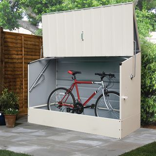 Trimetals Cream Outdoor Heavy Duty Steel Bicycle Storage Locker