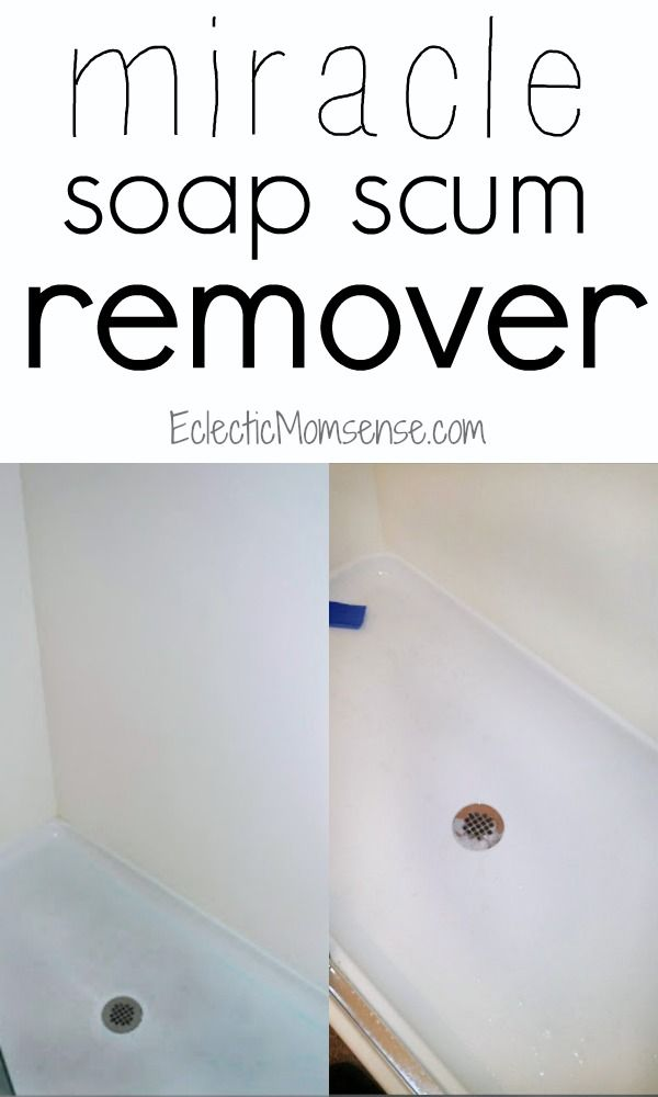 Miracle soap scum remover get rid of stubborn shower and for Bathroom soap scum removal