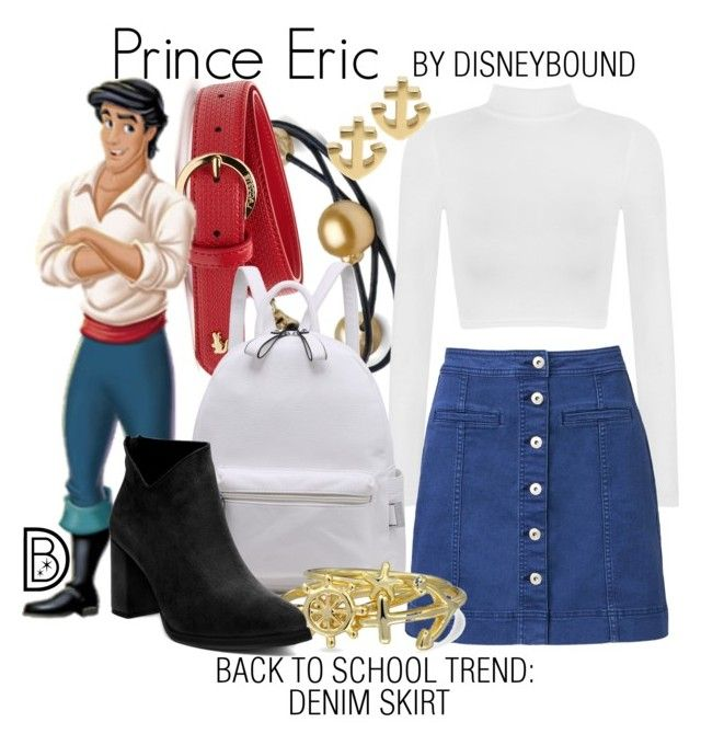 Prince Eric by leslieakay on Polyvore featuring polyvore fashion style WearAll Witchery Bling Jewelry Lacoste clothing BackToSchool disney disneybound disneycharacter