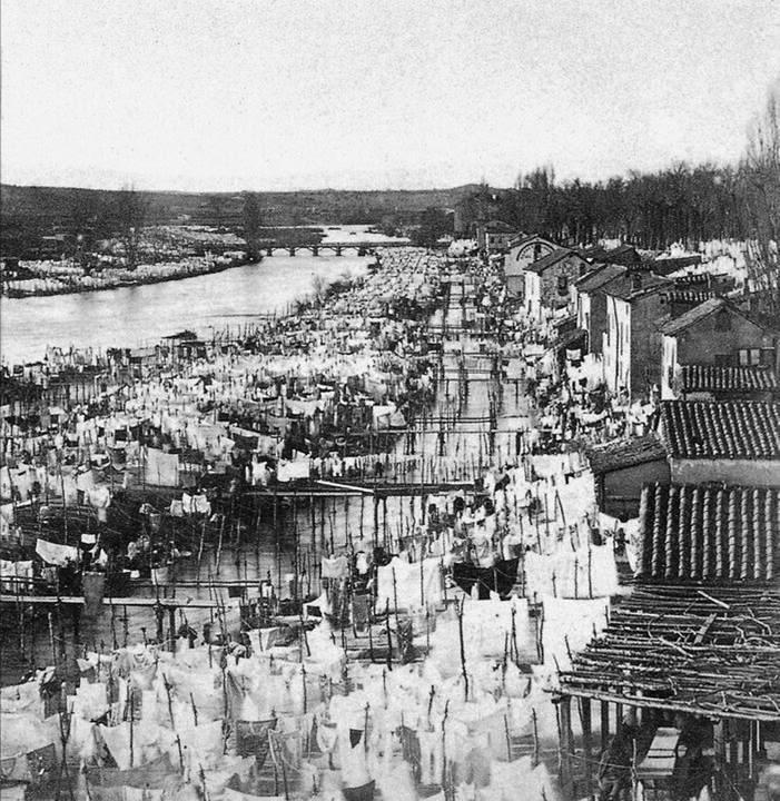 Los Lavaderos del Río Manzanares en 1860