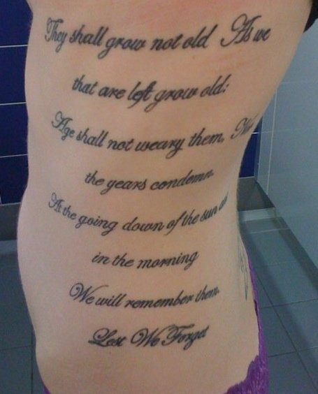Last post tattoo - very patriotic (I hope I have the courage to do something like that one day)