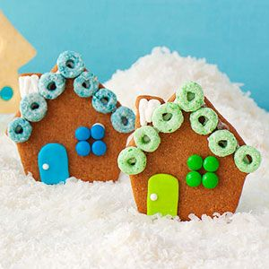 Gingerbread Village  These whole-wheat cookies are an easy alternative to one big house