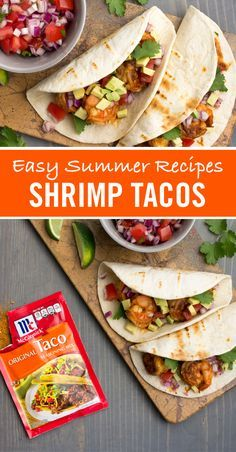 Tired of ordinary ground beef tacos? This easy shrimp tacos recipe is ready in just 15 minutes. Perfect for a busy weeknight dinner.