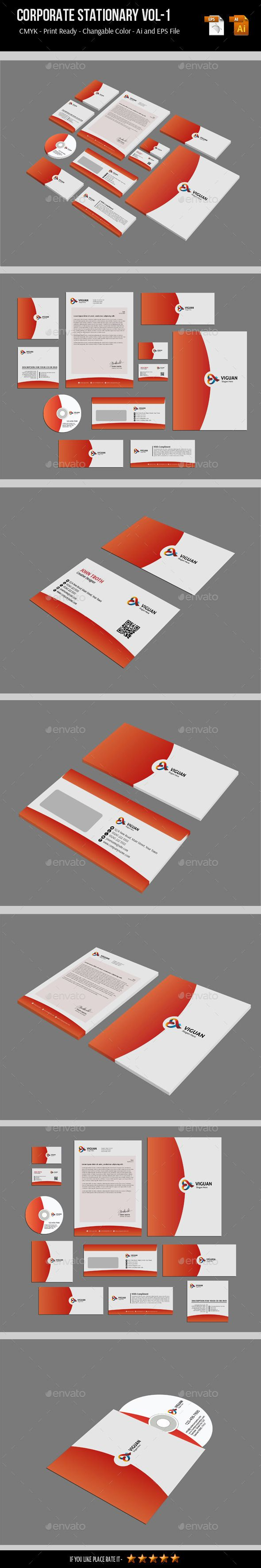 Corporate Stationary Vol-1 - #Stationery Print Templates Download here: https://graphicriver.net/item/corporate-stationary-vol1/7200802?ref=alena994