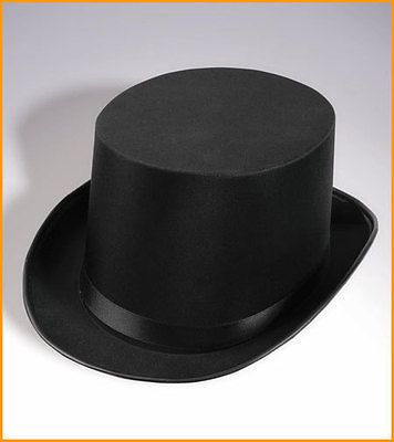 Tuxedo-Silk-Satin-Black-Top-Hat-Roaring-20s-Adult-Child-Formal-Costume-Magician