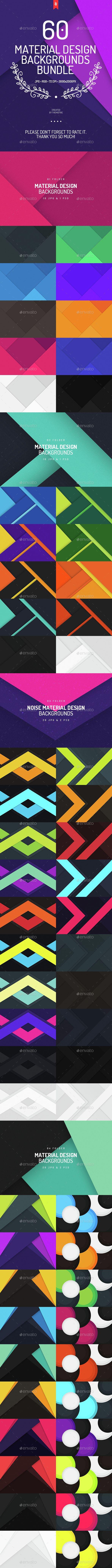 60 Material Design Backgrounds Bundle - Download…