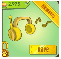 Animal Jam: Rare Golden Headphones. I have not gotten these yet, but I rlly want them. I have all the other colors though.