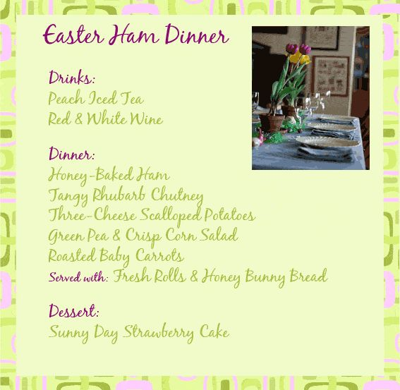 17 best ideas about easter dinner menu on pinterest