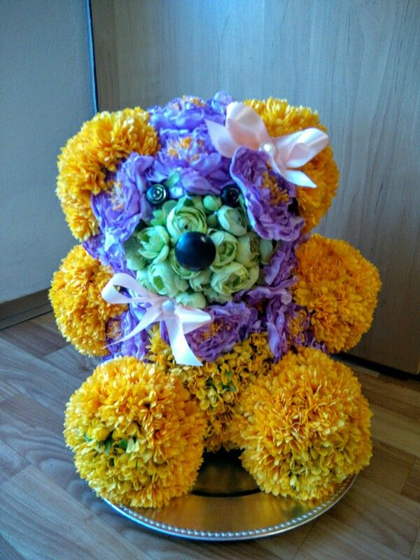 Floral teddy  for Valentine's Day
