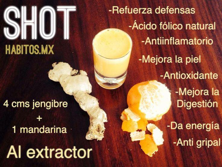 Shot de jengibre y mandarina #hábitosmx #hábitos #health #salud