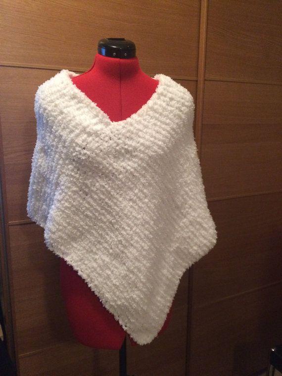 Hand Knit  Poncho  Hand Knitted Poncho  Handmade by MarianaPandi
