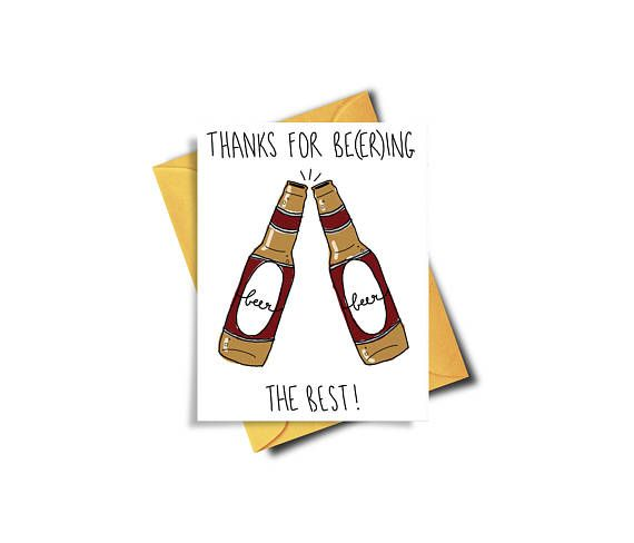 Funny Beer Card / Card for Boyfriend / Funny Card for Boyfriend / For Him / Cheers / Best Boyfriend / Thank You