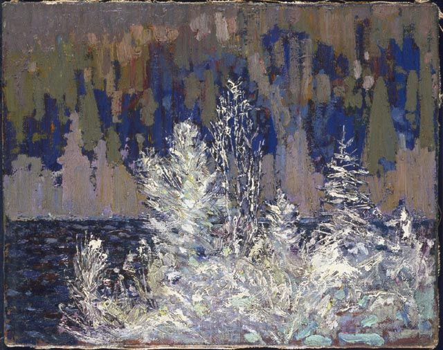 Tom Thomson Catalogue Raisonné | Frost-Laden Cedars, Big Cauchon Lake, Winter 1914–15 (1914-1915.06) | Catalogue entry