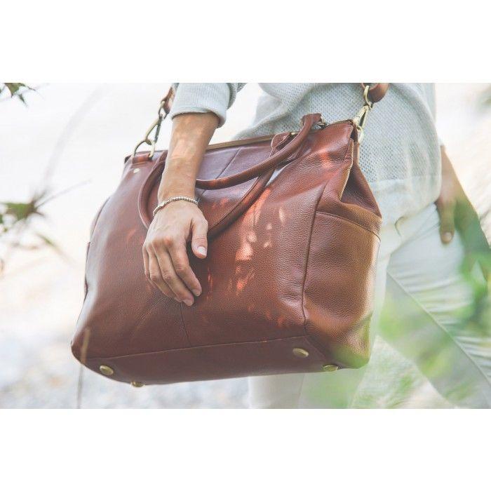 Oemi Baby Leather Diaper Bag - Brownstone - 1