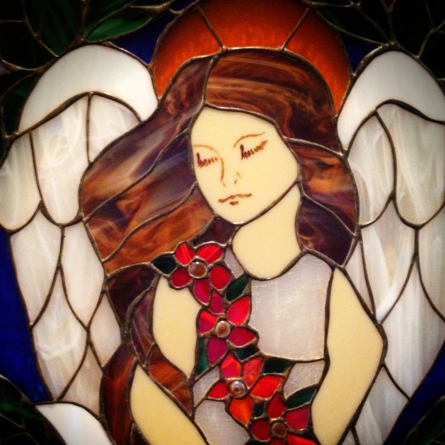 153 Best Images About Stained Glass-Angels & Fairies On